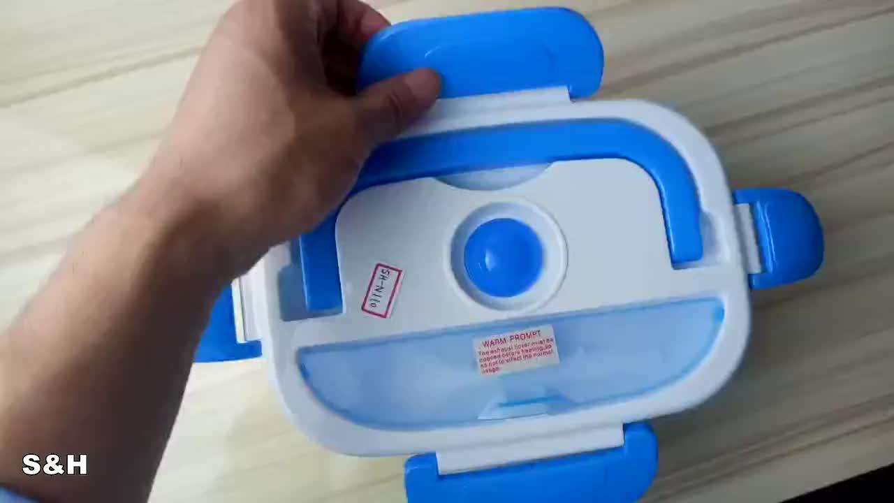 110V/220V 1.05L Plastic Portable Tiffin Bento Thermo Food Warmer Electric Lunch box