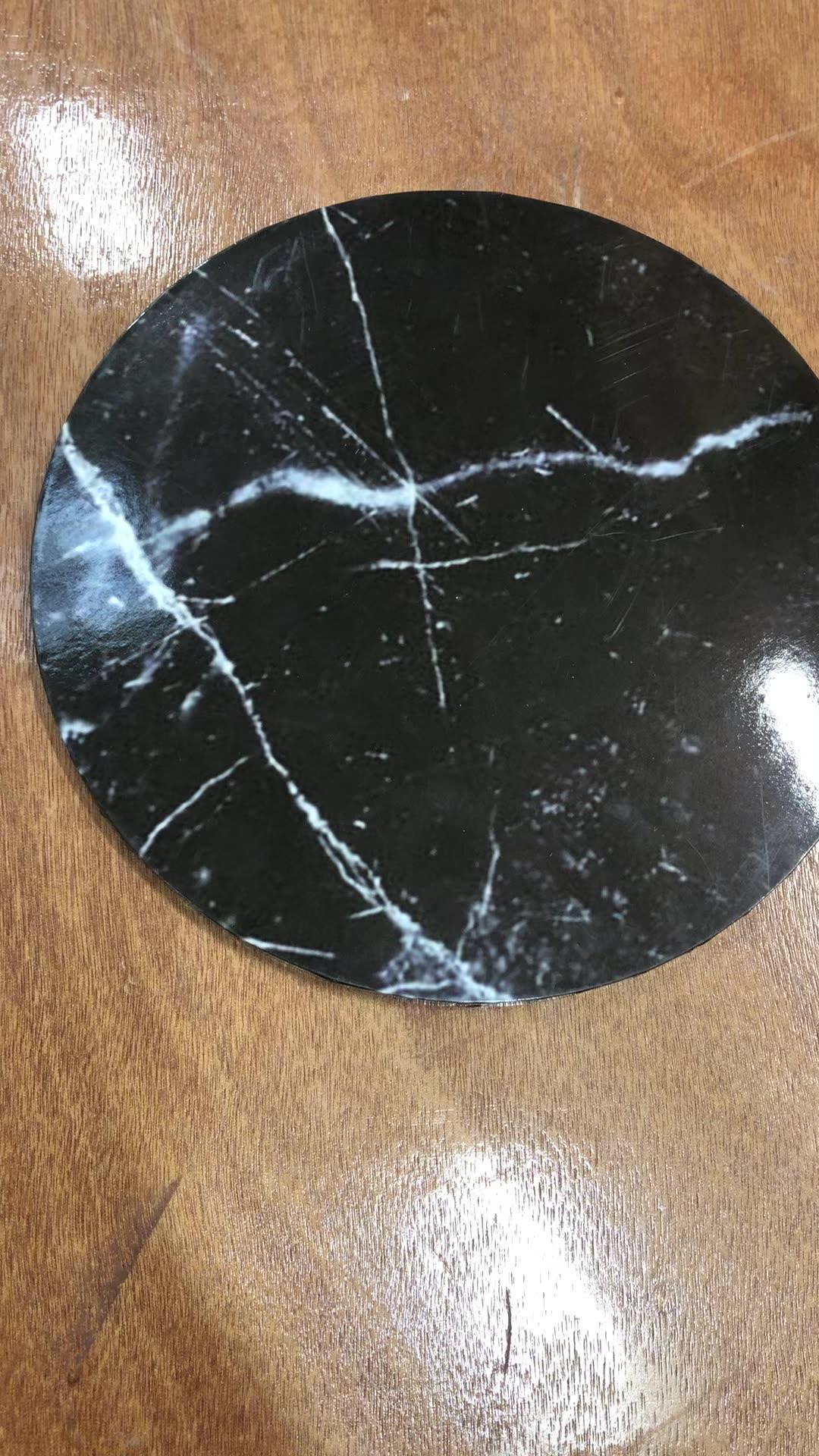 black marble pattern masonite cake board cake base