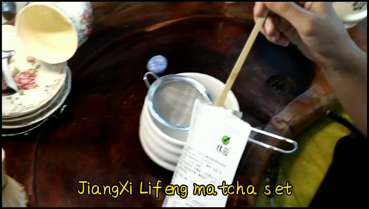 OEM Giapponese di Bambù Naturale di Tè Matcha Frusta Chasen Con Uji Matcha Ciotola Titolare