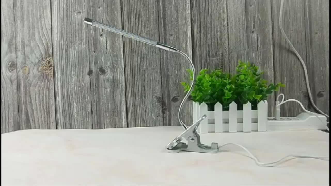 Hot sell flexible USB led clip touch reading light for table desk