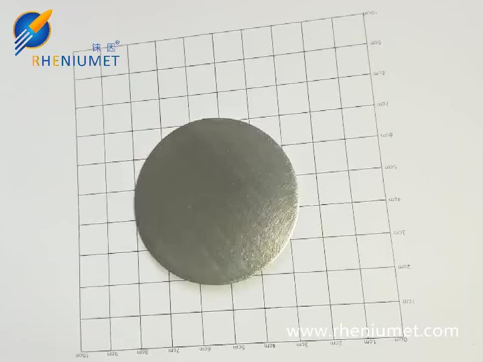 High purity rhenium target/ 99.99% purity rhenium sputtering target