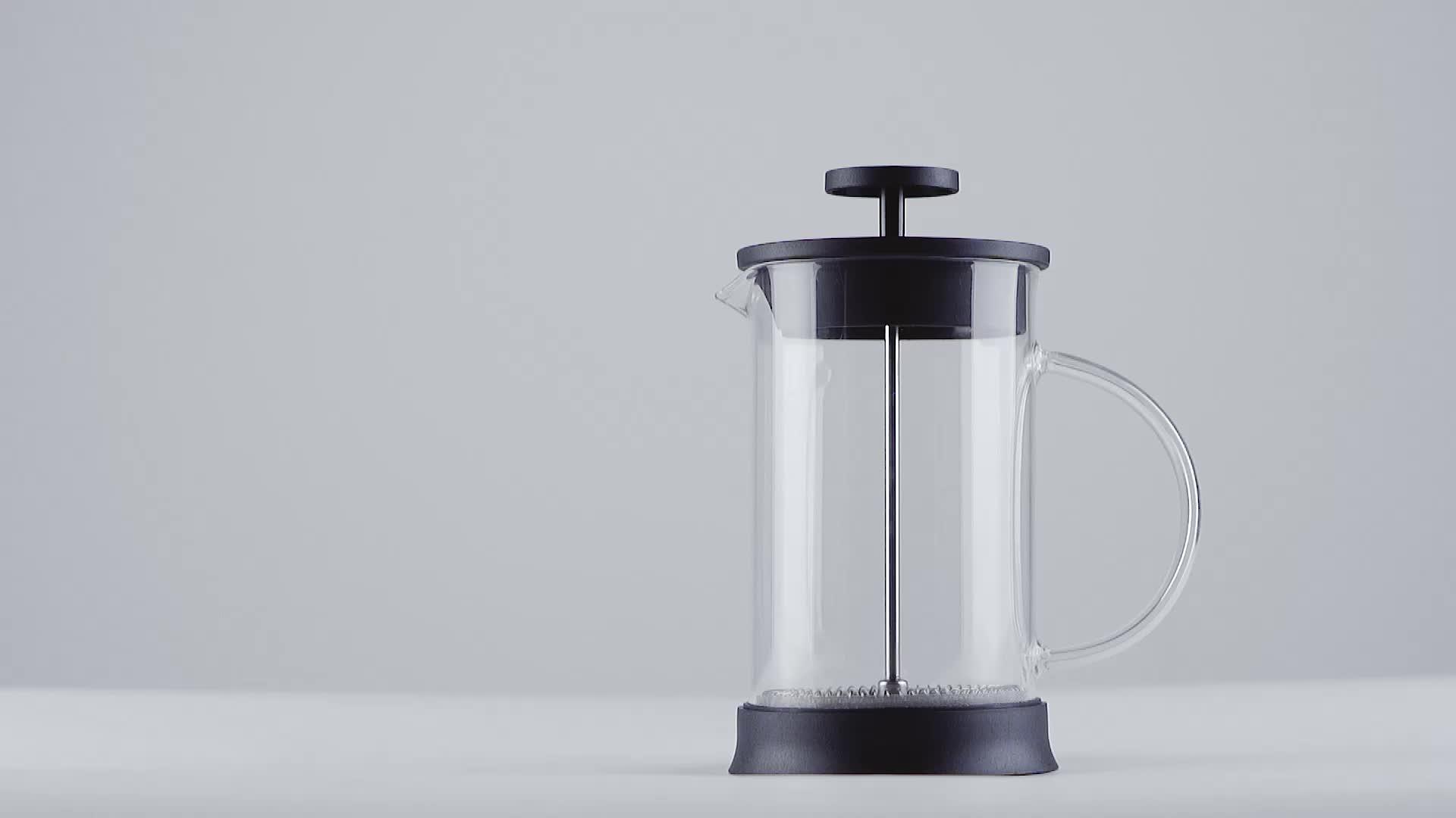 Amazon Rvs Borosilicaatglas Koffie Franse Pers Pot/Koffiezetapparaat/Thee Brouwen