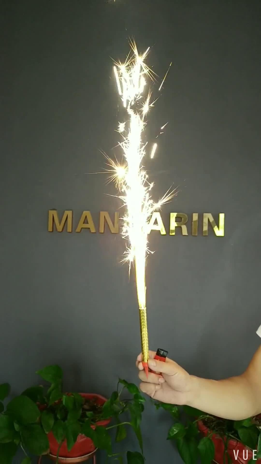 Venta al por mayor sin humo boda fiesta de fuegos artificiales pastel de cumpleaños vela fuegos artificiales