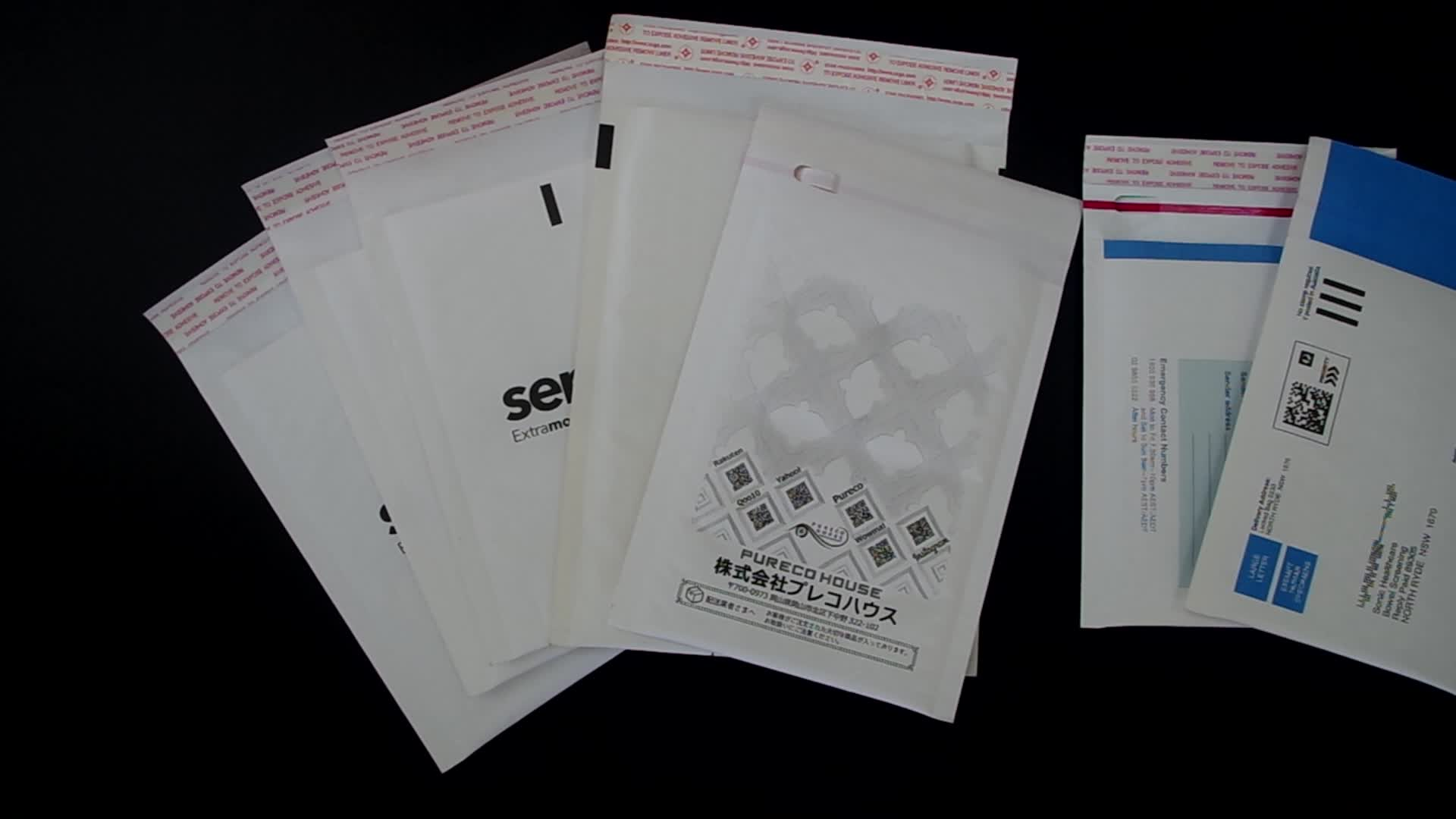Customized Printed Poly Mailer/Colored Padded Bubble Envelopes