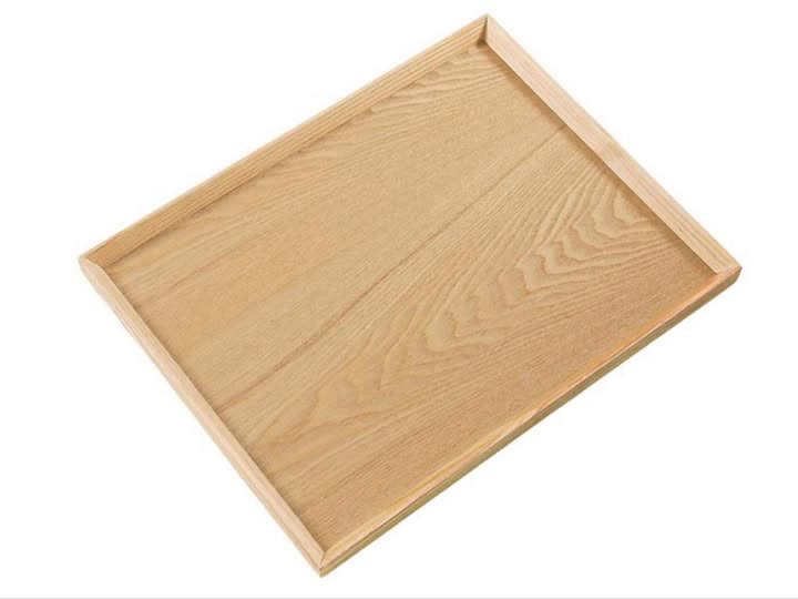 Creative Japanese wooden tea tray rectangular wooden service tray for sale