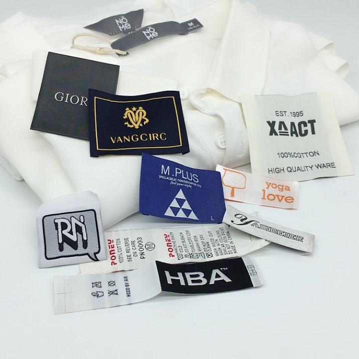Personalizado Com a Marca Oem Uso Pano de Costura Do Vestuário Etiqueta Tecida Barato Profissional