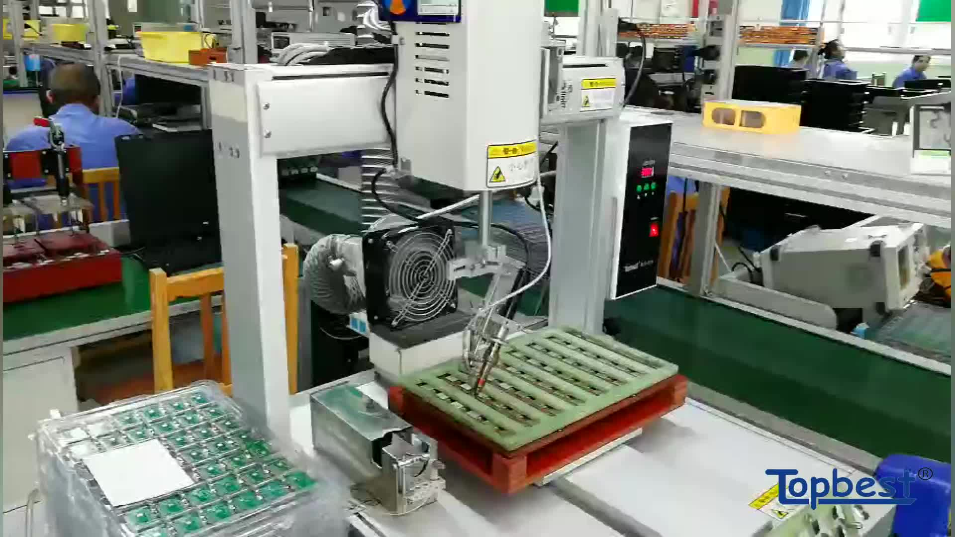 automatic feeding soldering machine with spot soldering and drag soldering