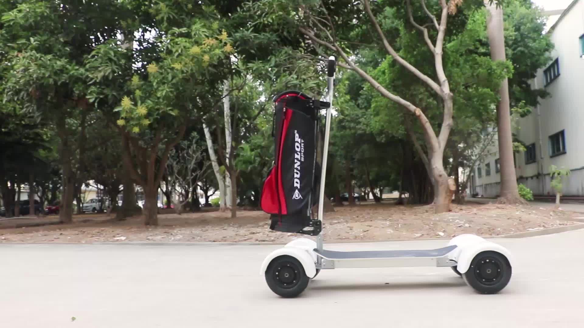 White Golf Cart Mobility Scooter 10 5inch Tire 4 Wheels Electric Board