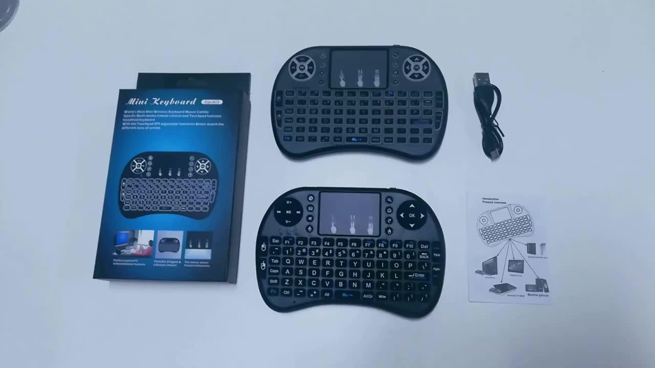 I8 Baterai Li-ion Isi Ulang Air Mouse Remote Control Mini I8 Wireless Keyboard untuk Android TV Box