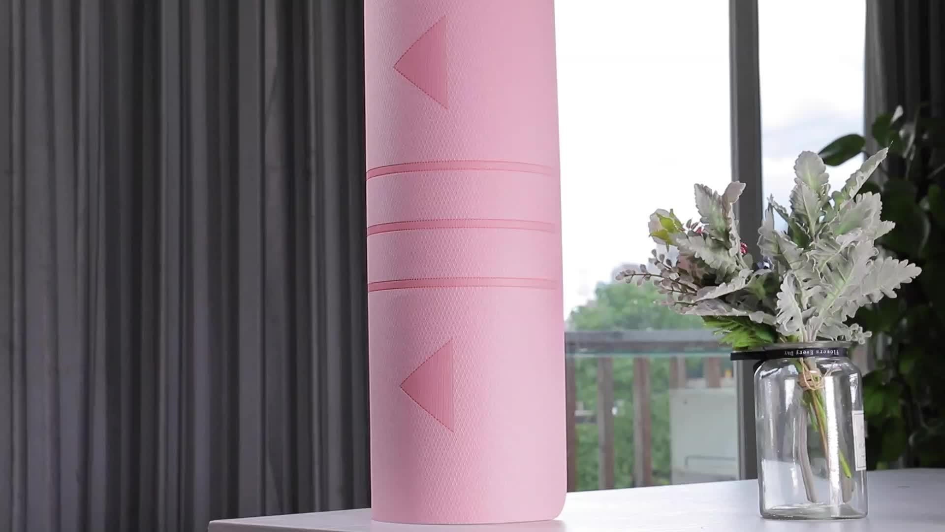 SANFAN Прямая продажа с фабрики Оптовая Продажа Новый дизайн Заказная печатная коврик Двусторонняя противоскольжения экологичный резиновый коврик для йоги