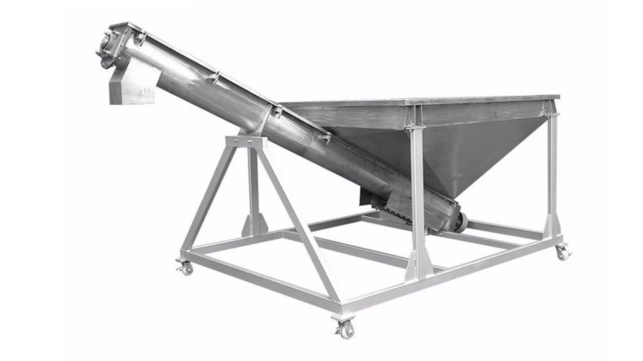 OEM professional custom 100mm stainless steel hopper screw auger/flexicon ss screw conveyor