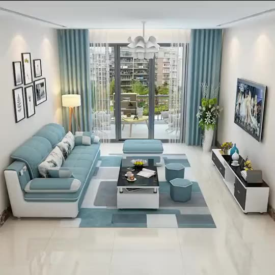 Small Family Sofa Set Designs Combination Of Modern Contracted Three Four People Can Be Removed And Washed sofa