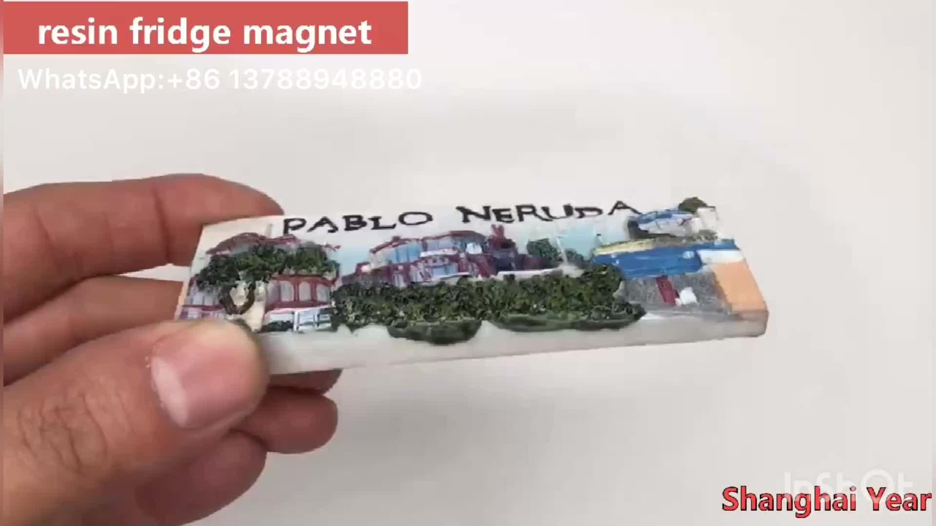 Hot Selling Souvenir 3D Resin Fridge Magnet for Tourist Gifts