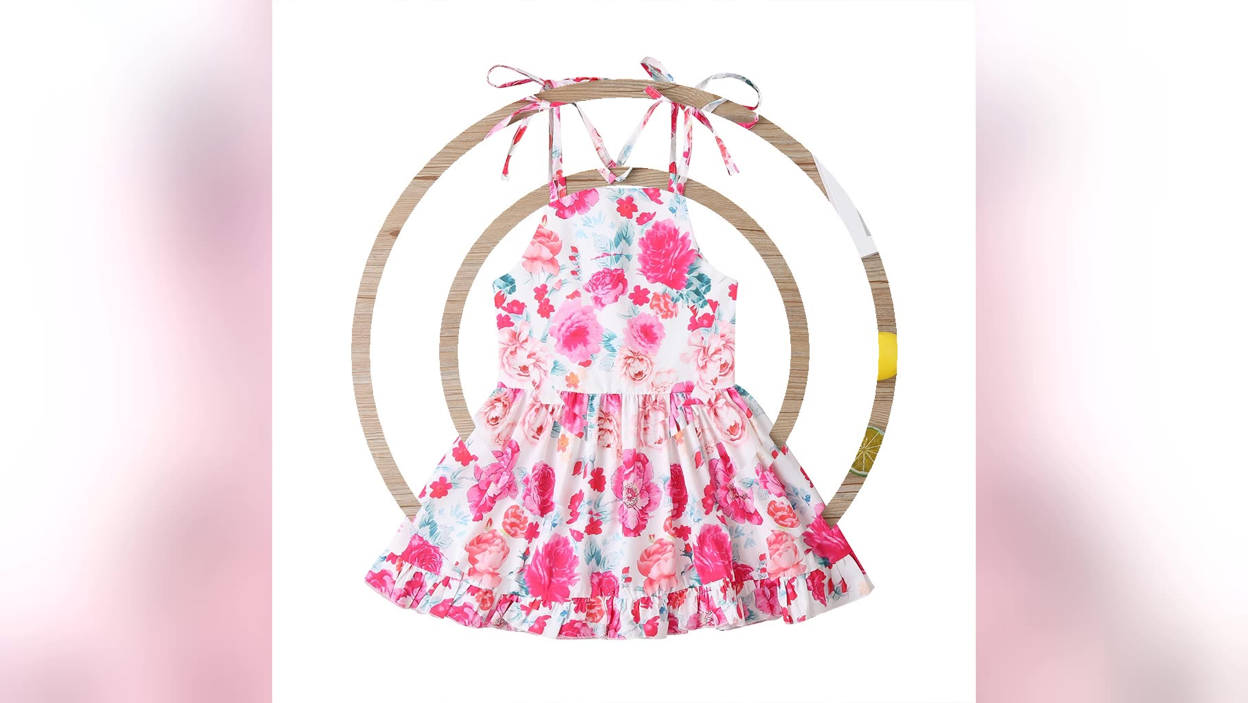 Popular Wholesale Sweet Sleeveless Cotton Baby Girl Dress Cotton Lovely Baby Girl Infant Dresses Clothes