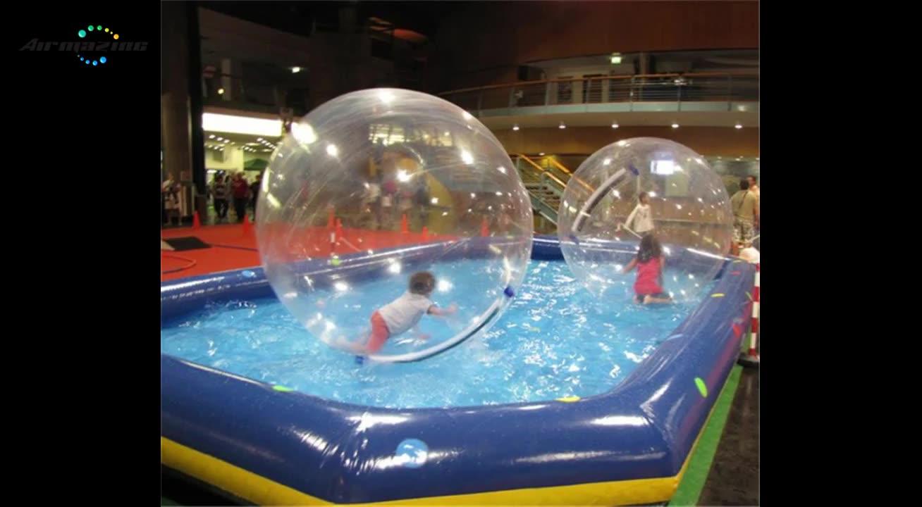 Fußball typ aufblasbare schwimm wasser ball, heißer verkauf jumbo wasser ball W8004