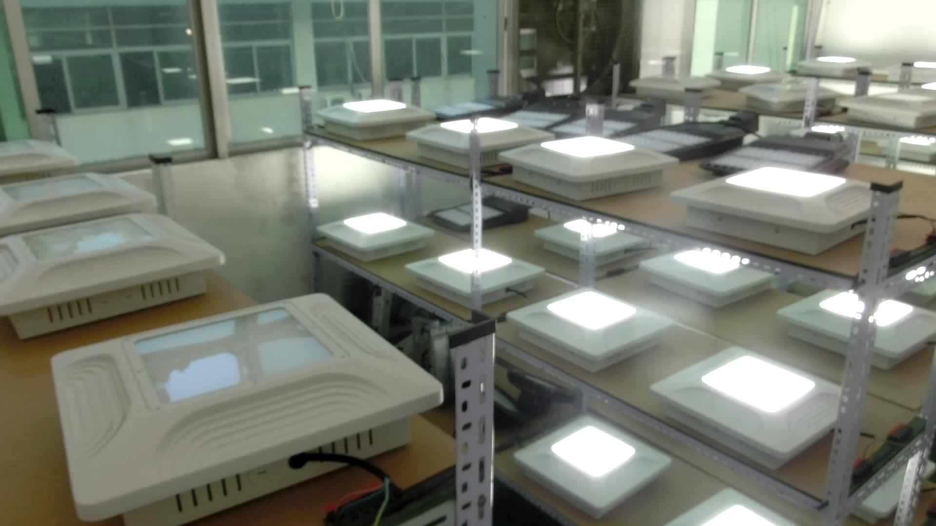 На открытом воздухе для бензиновых станций, светодиодный свет 80W 100W 120W 150W светодиодные лампы навесного типа UL cUL SAA