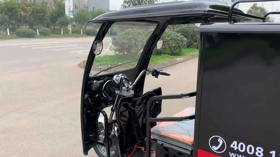 auto electric rikshaw long range electric tricycle tuk tuk motorcycle for cargo delivery pedicab with trailers
