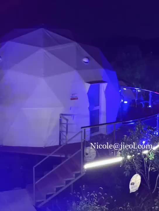 גואנגזו גדול לבן 5 קוטר הגיאודזית כיפת אוהל למכירה