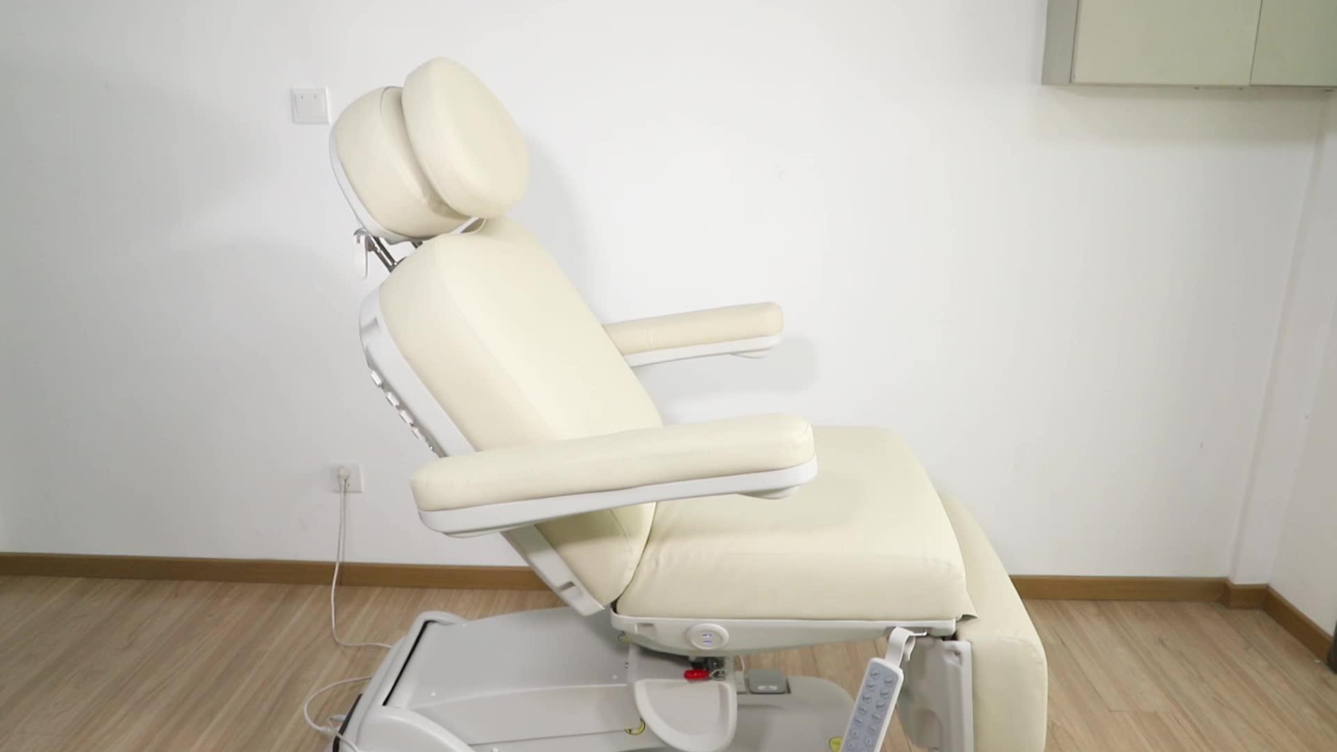 Güzellik salonu mobilyası 4 motor ayak bakımı dermatoloji sandalye elektrikli yüz yatak