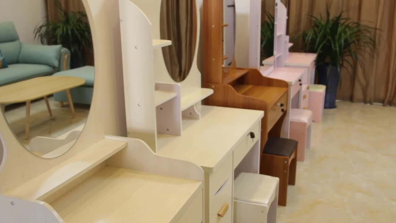 Tocador Schminktisch 메이크업 드레서 허영 드레싱 테이블 거울과 의자