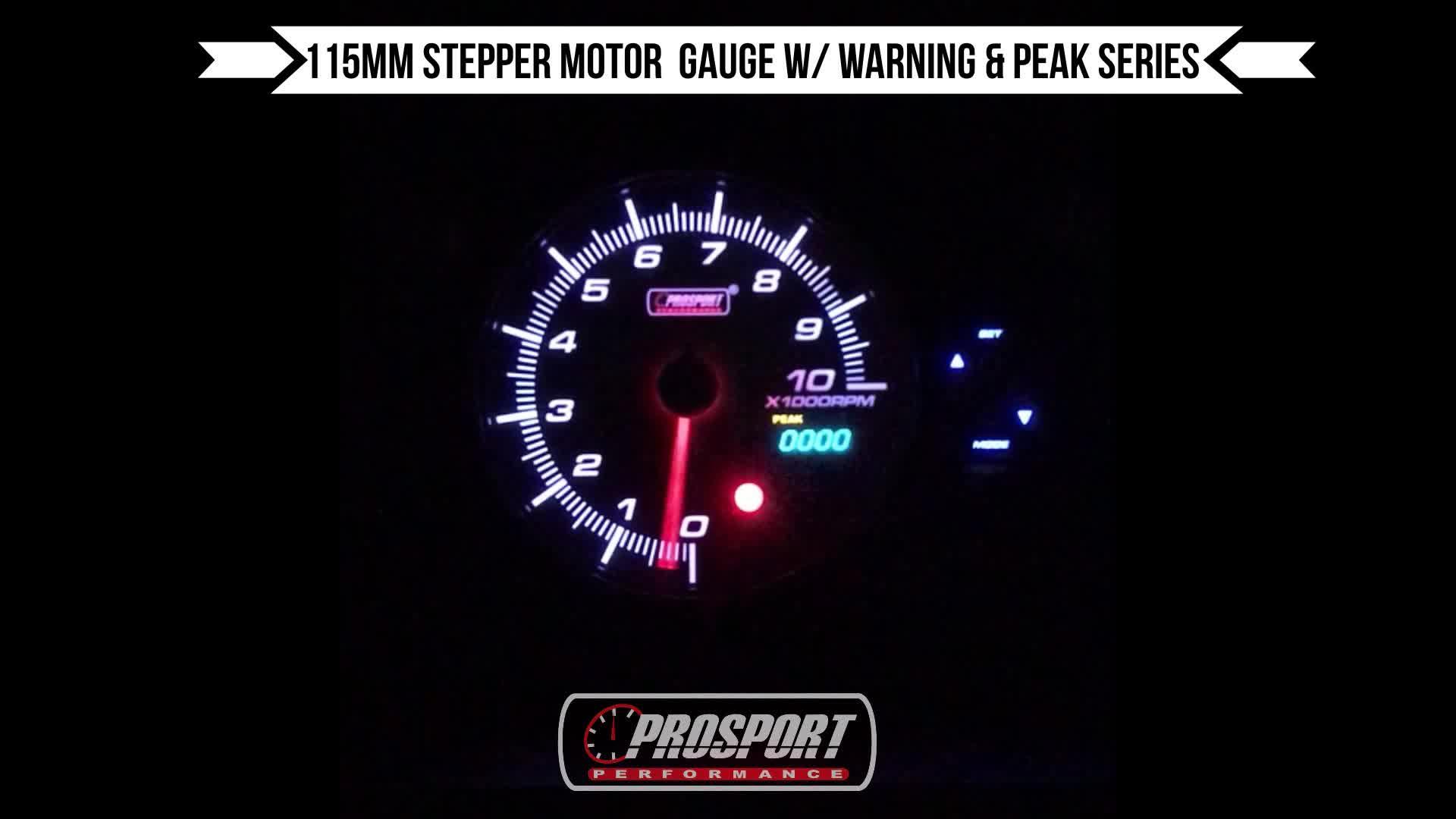 115mm Prosport Phổ Analog RPM CE Đo Tốc Độ Cho Xe