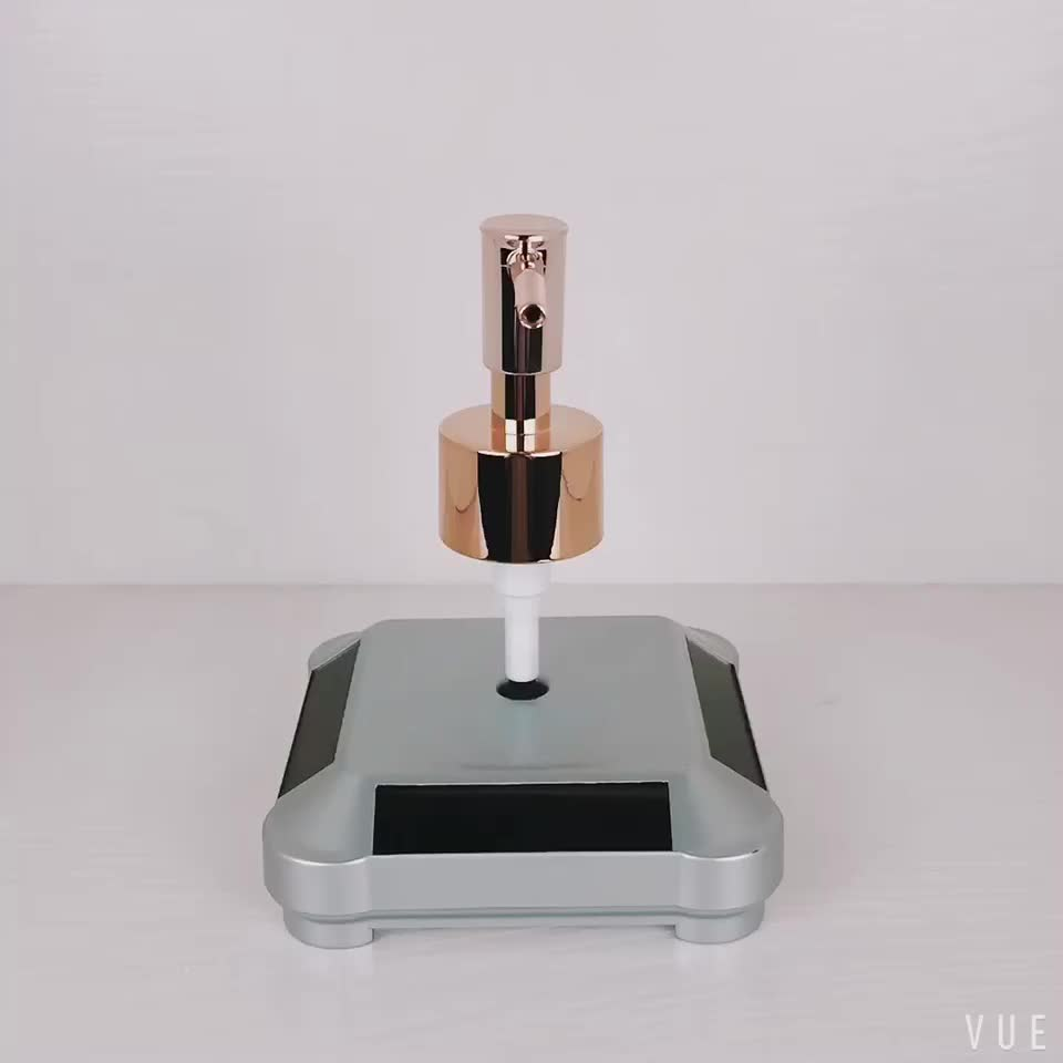 Screw Up Square Wholesale Rose Gold Lotion Pump For Shampoo Bottle