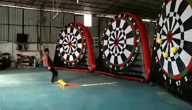 Customized soccer inflatable dart game inflatable foot darts for sale