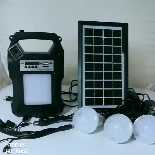 New residential 6v 3.5w solar home lighting kit for home use home solar system with 4 bulbs and usb charger