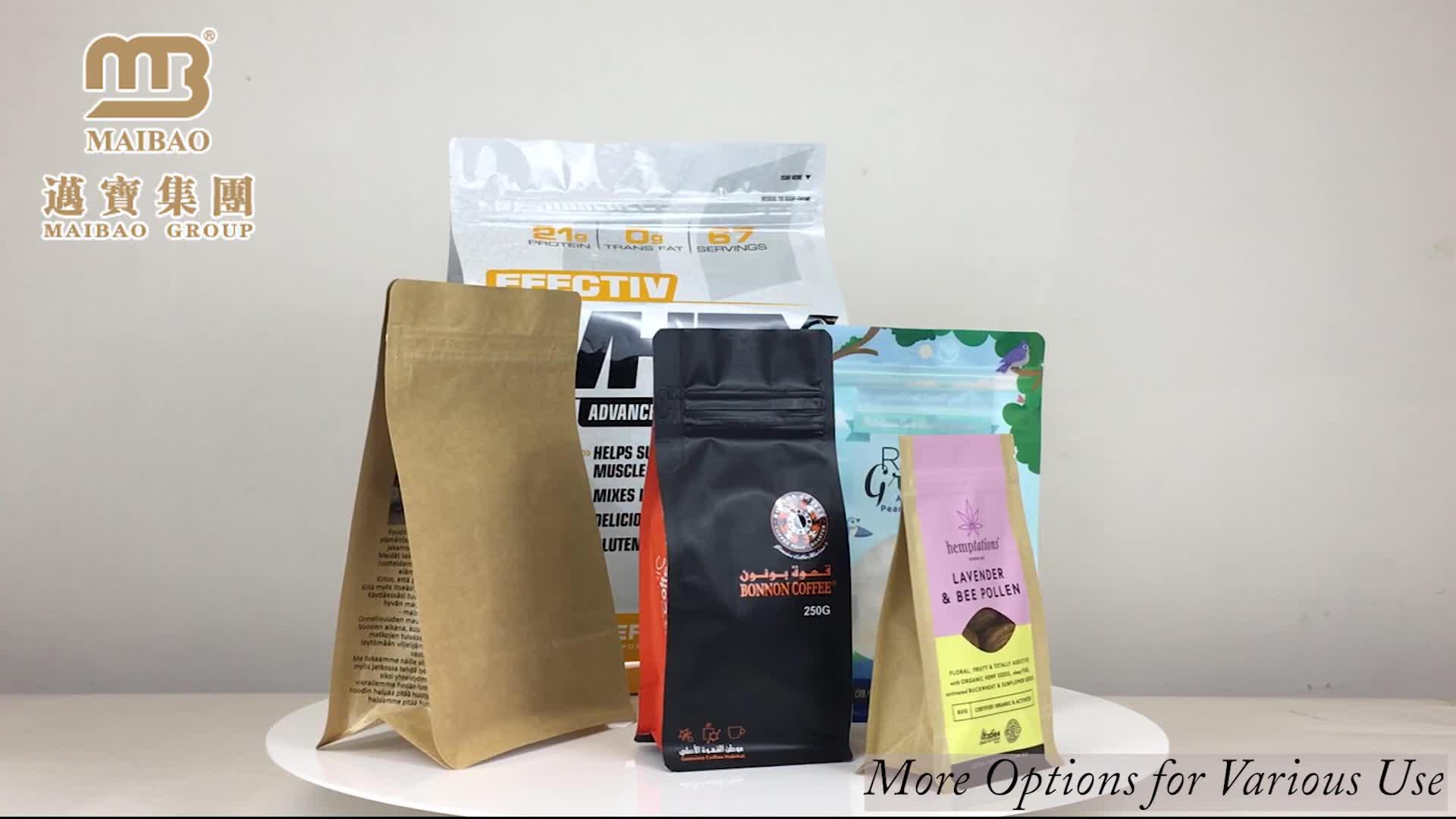 Custom Printed Flat Bottom Resealable Ziplock 500g 1kg 5kg Whey Protein Powder Packaging Bags