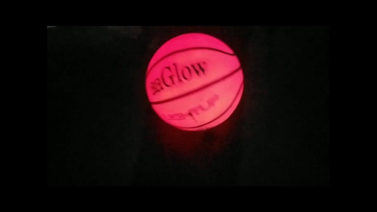 Aaglow moda glow in noite basquete Longo tempo brilho LEVOU PVC luz noctilucent luminous crianças basquete