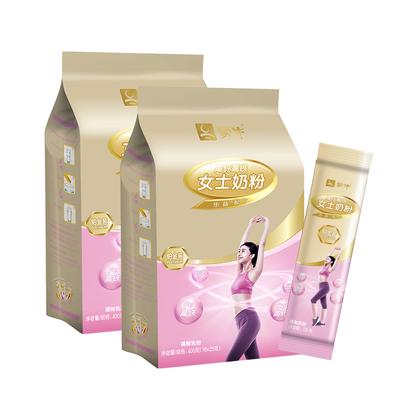 蒙牛成人奶粉铂金装女士多维高钙高铁奶粉400g*2袋补气养血高蛋白