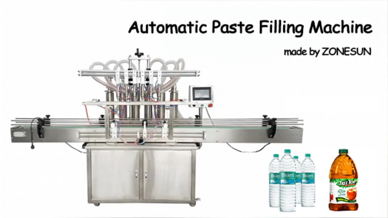 ZONESUN ZS-YT6T-6Y Automatic Pneumatic Fruit Juice Soap Detergent Paste 6Heads Bottle Filling Machine Line With Cheap Price
