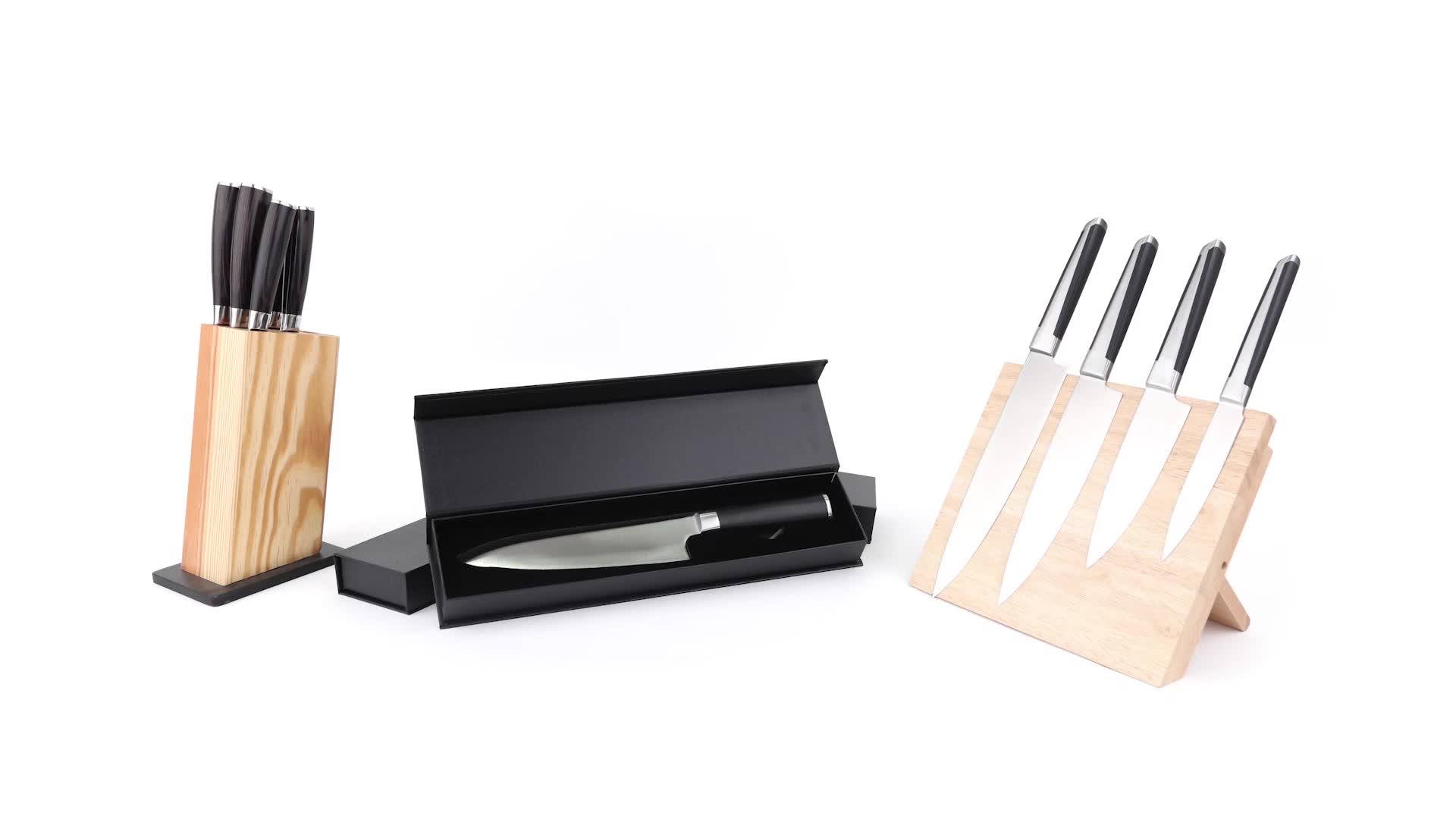 Chinese classic royal handmade sharp stainless steel chef knives block kitchen knife set for kitchen
