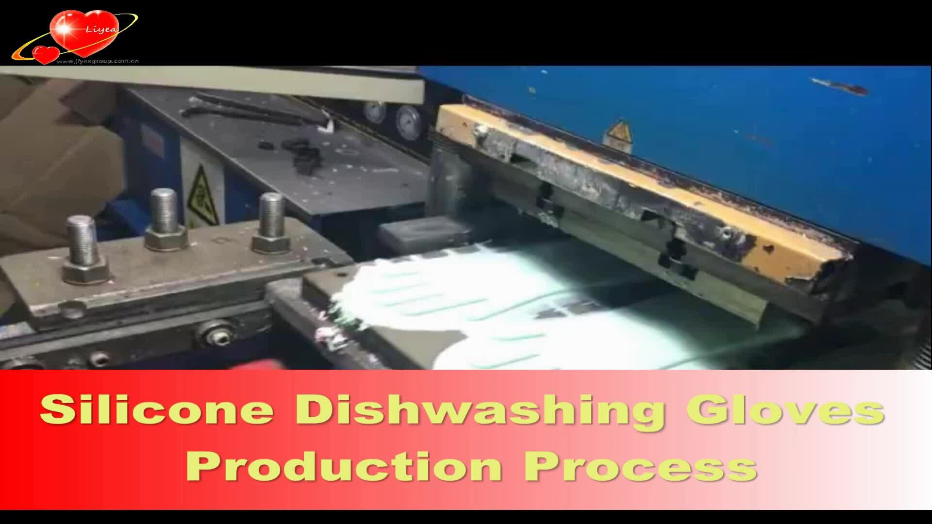 Silikon Topflappen Küchenhandschuhe Haushaltsreinigungshandschuhe Heißwasserhandschuhe Blau Spülhandschuhe Hitzebeständiges Silikon
