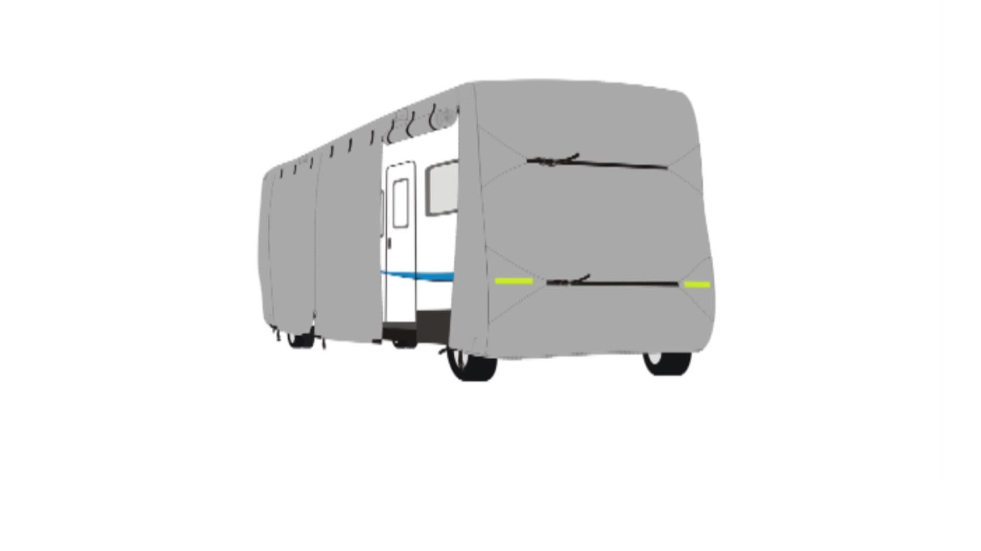 Lichtgewicht Ripstop Stof RV Cover Deluxe Klasse C RV Cover Voor 32'-'Campers