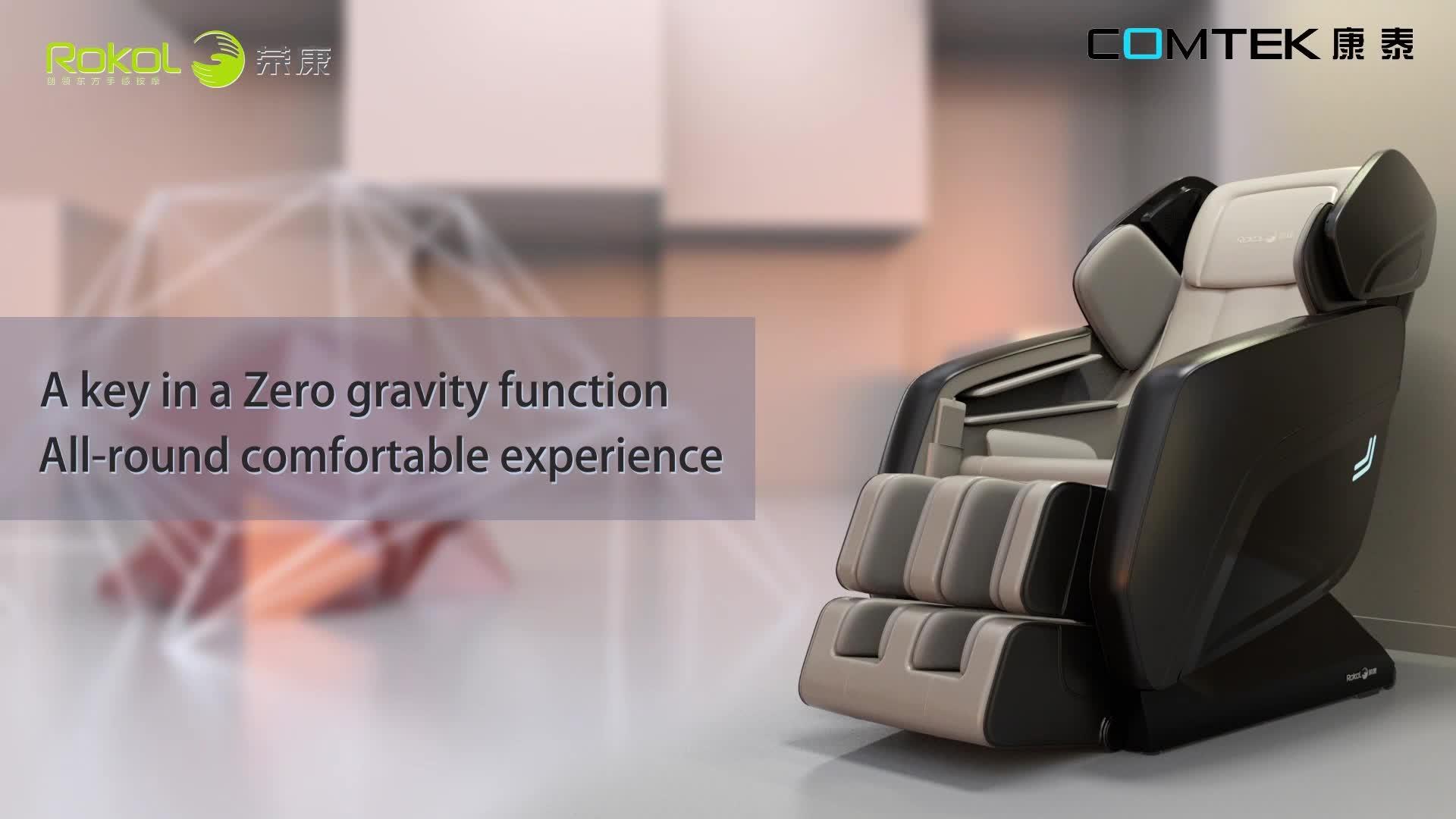 RK8900S L shape Zero gravity Zero Wall massage chair
