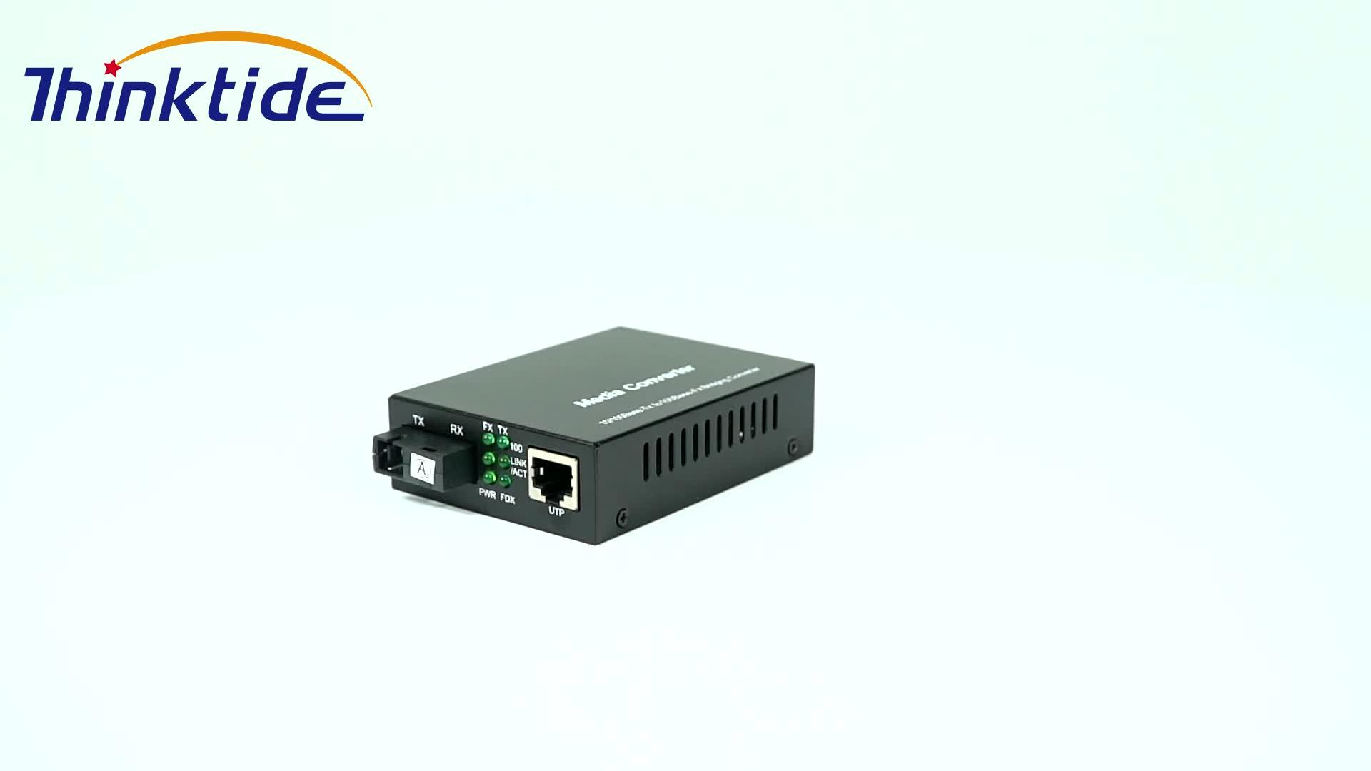 10/100/1000Mbps 2 סיבי נמל + 8 RJ-45 יציאת SFP מתג סיבים אופטי מדיה ממיר 1000M 10 יציאות אופטי ממיר