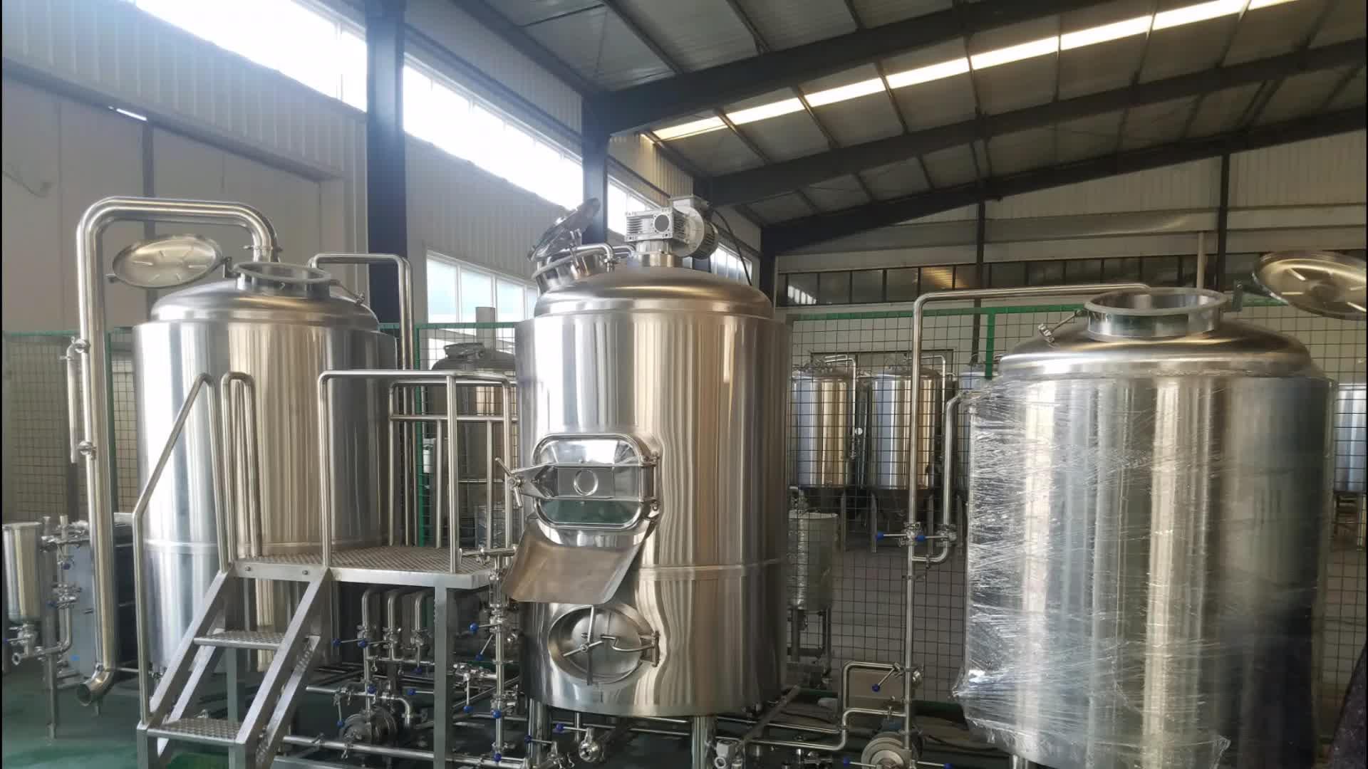 5HL 5BBL माइक्रो शराब की भठ्ठी 500L बीयर पक उपकरण, बीयर बनाने की मशीन बीयर शराब की भठ्ठी विनिर्माण संयंत्र