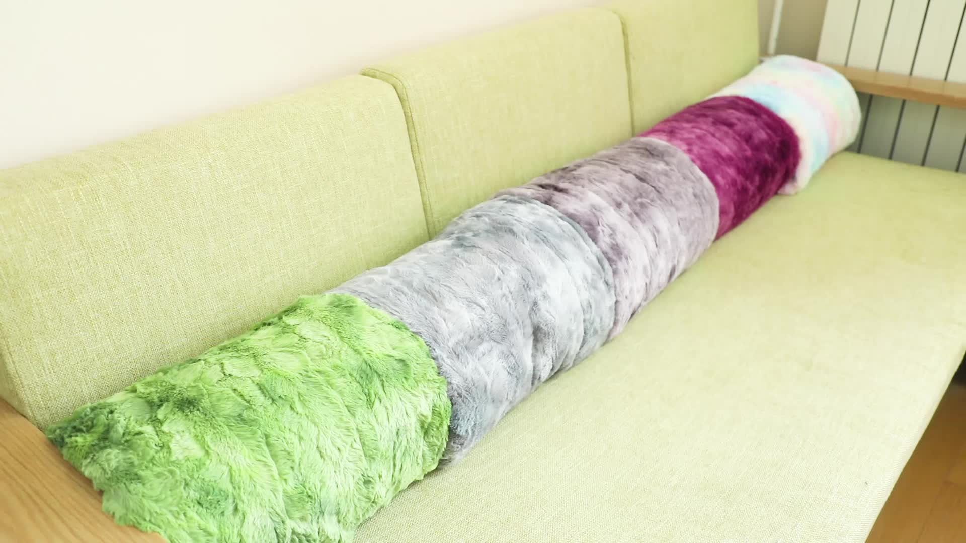 Soft Thick Single Beautiful Purple Sliver Spring/Autumn Mermaid Tail Blanket With Good Price