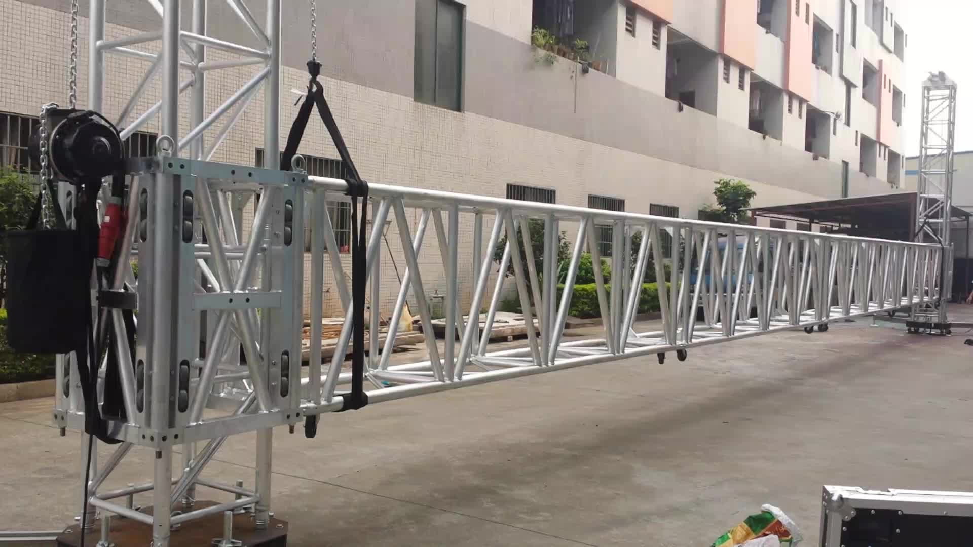 Aluminum Lifting Tower Designs System Long Outrigger Trusses Tower Compatible With Prolyte Truss MPT-30