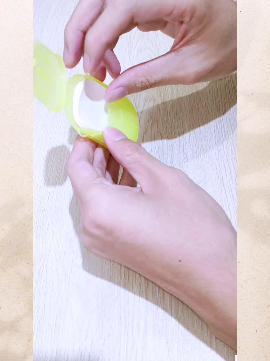 Tek kullanımlık sabun tabletler kutulu sabun kağıt mini kağıt sabun yaprak