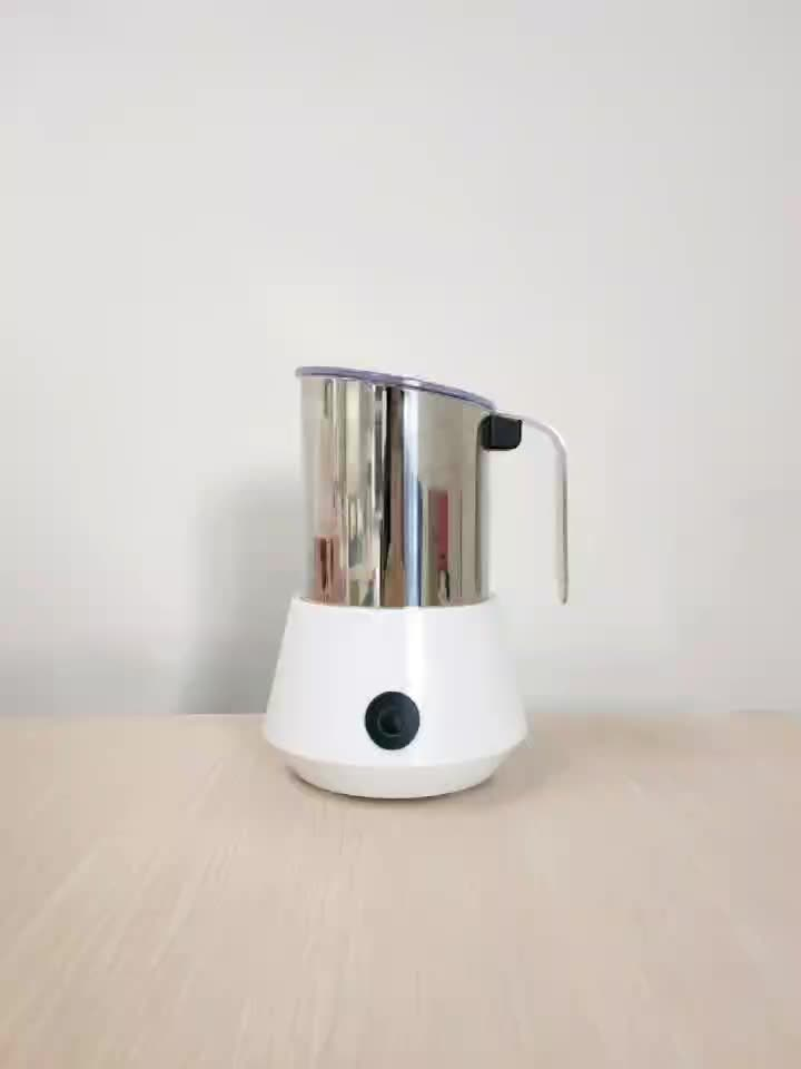 modern design wood grain electric milk frother milk boiler with detachable jug