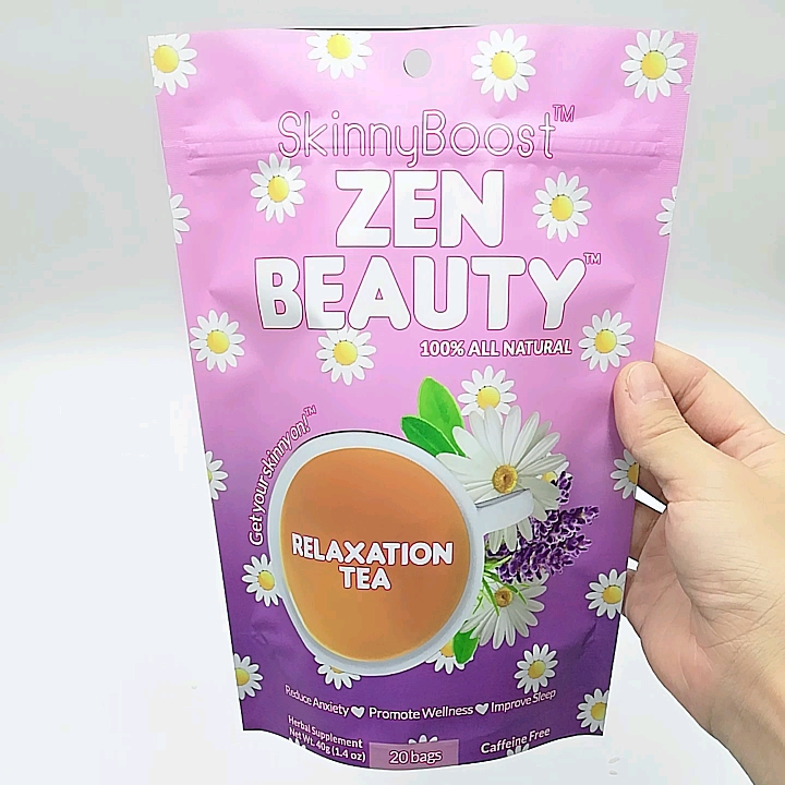 printed pattern ziplock smell proof mylar tea bags