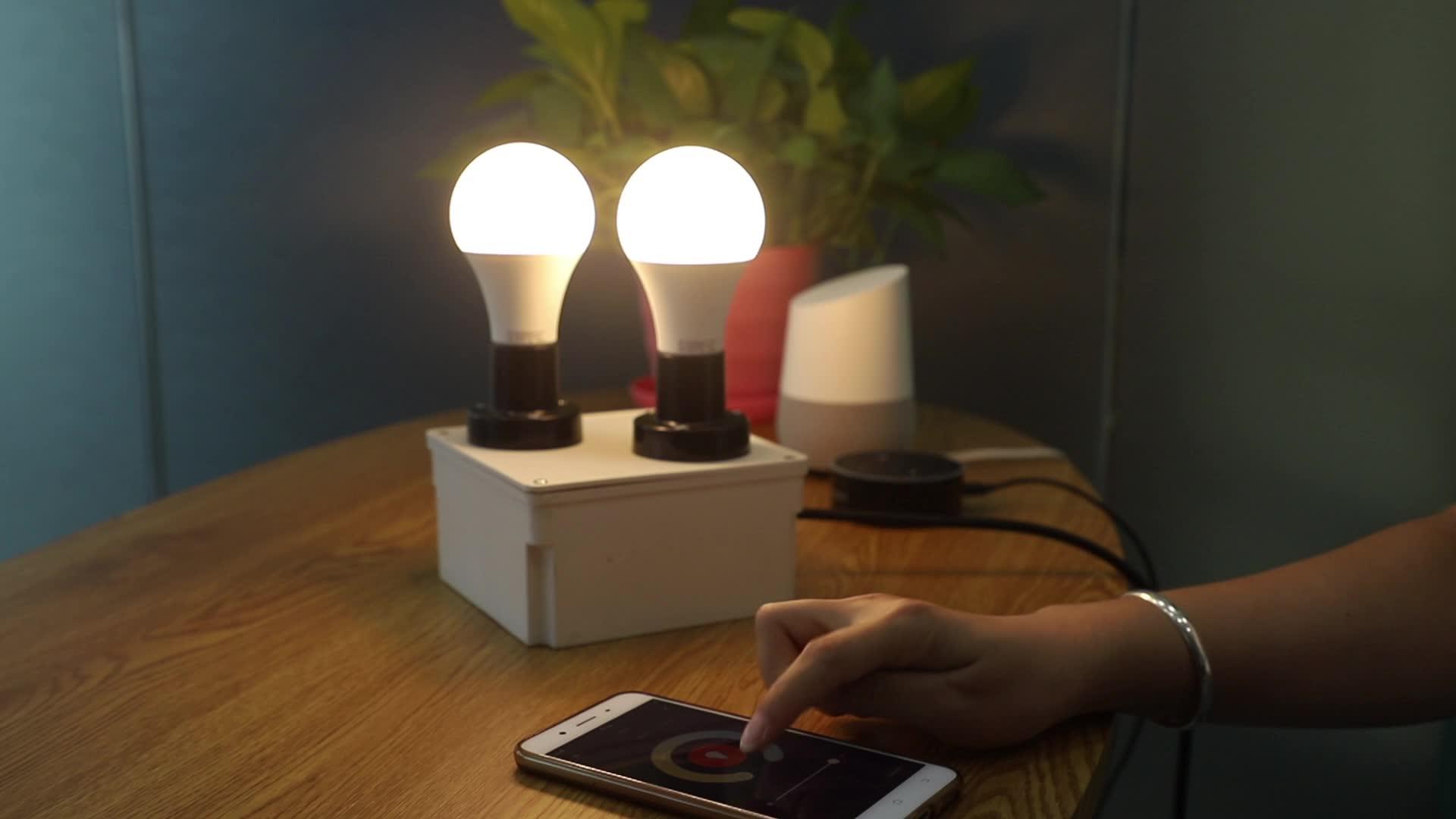 Tuya WiFi 스마트 LED 전구 Tuya App 알람 그룹 WiFi 스마트 LED 전구 스마트 Led 라이트 호환 alexa Google