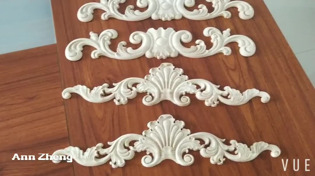 Cabinet Ornament Furniture Part Wood Carved Applique Carving Onlay