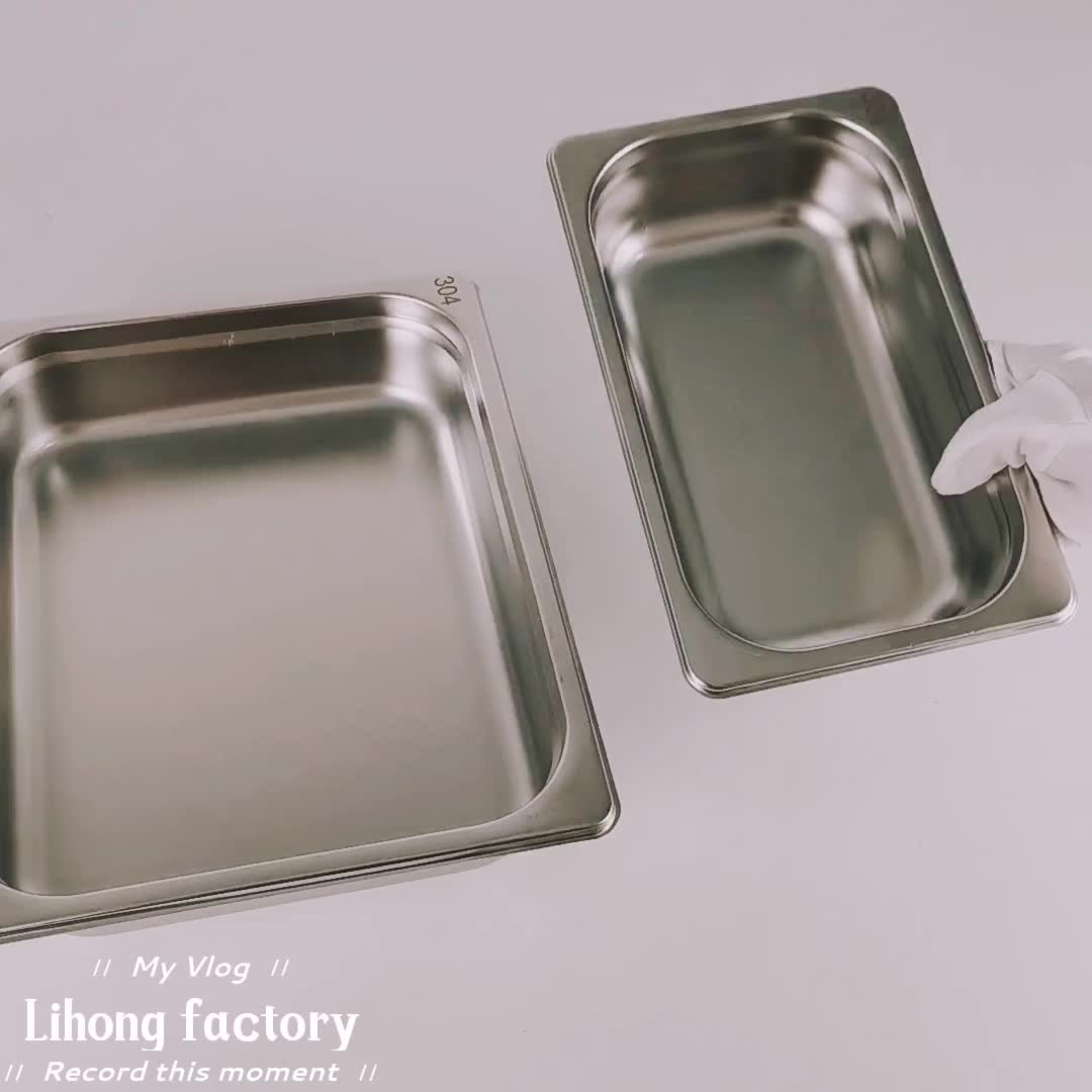 1/2 Hotel Equipment Food container Stainless Steel Gn Pan gastronorm pan with Lid