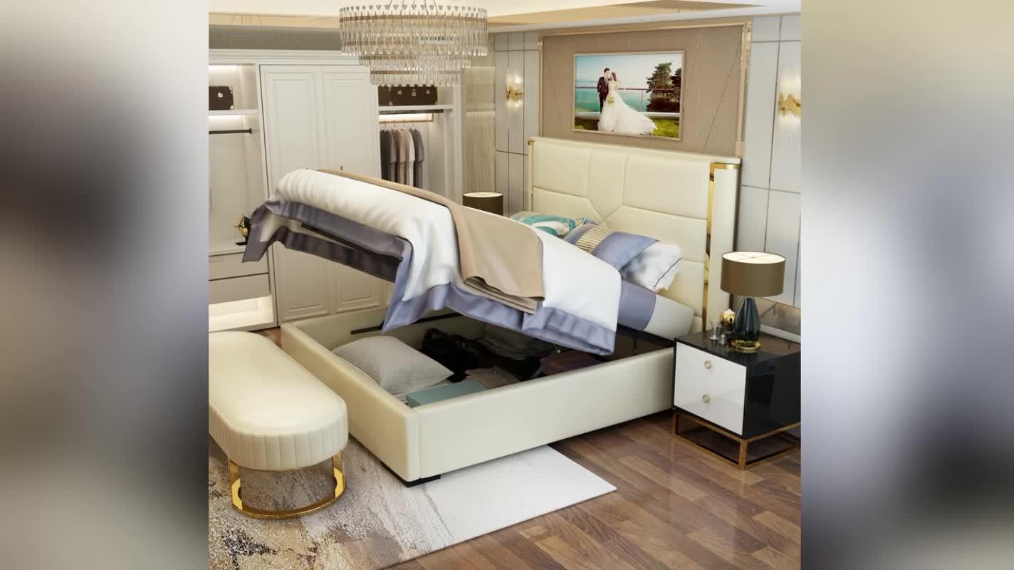 Latest designs modern hotel King size bedroom furniture