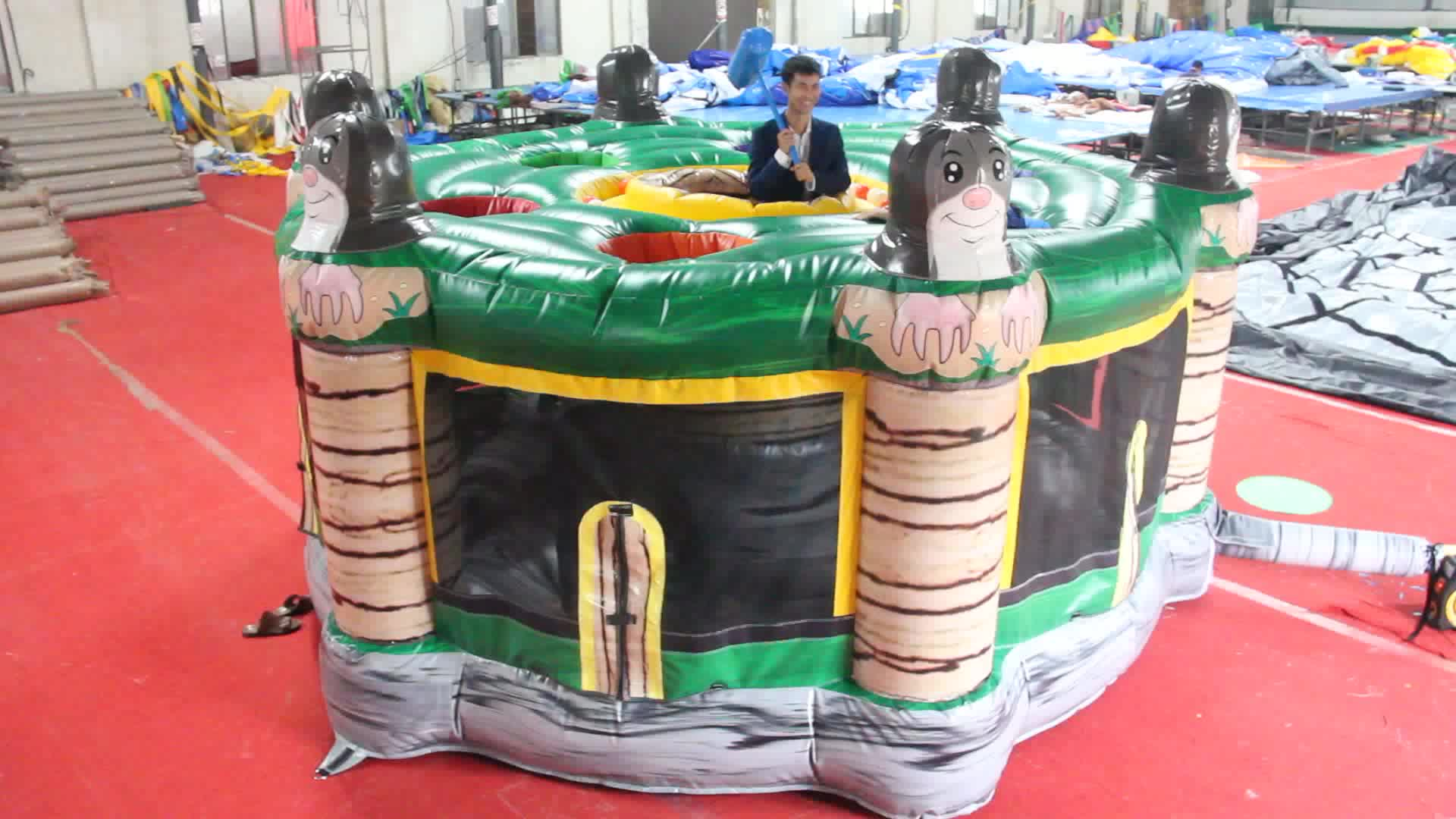 crazy kids N adult game inflatable human whack a mole inflatable hamster interactive adult hunting game