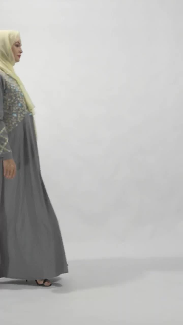 Maxi vest abaya vrouwen Nieuwste moslim vrouwen kleding marokkaanse caftan jurk duabi abaya jilbab jurk