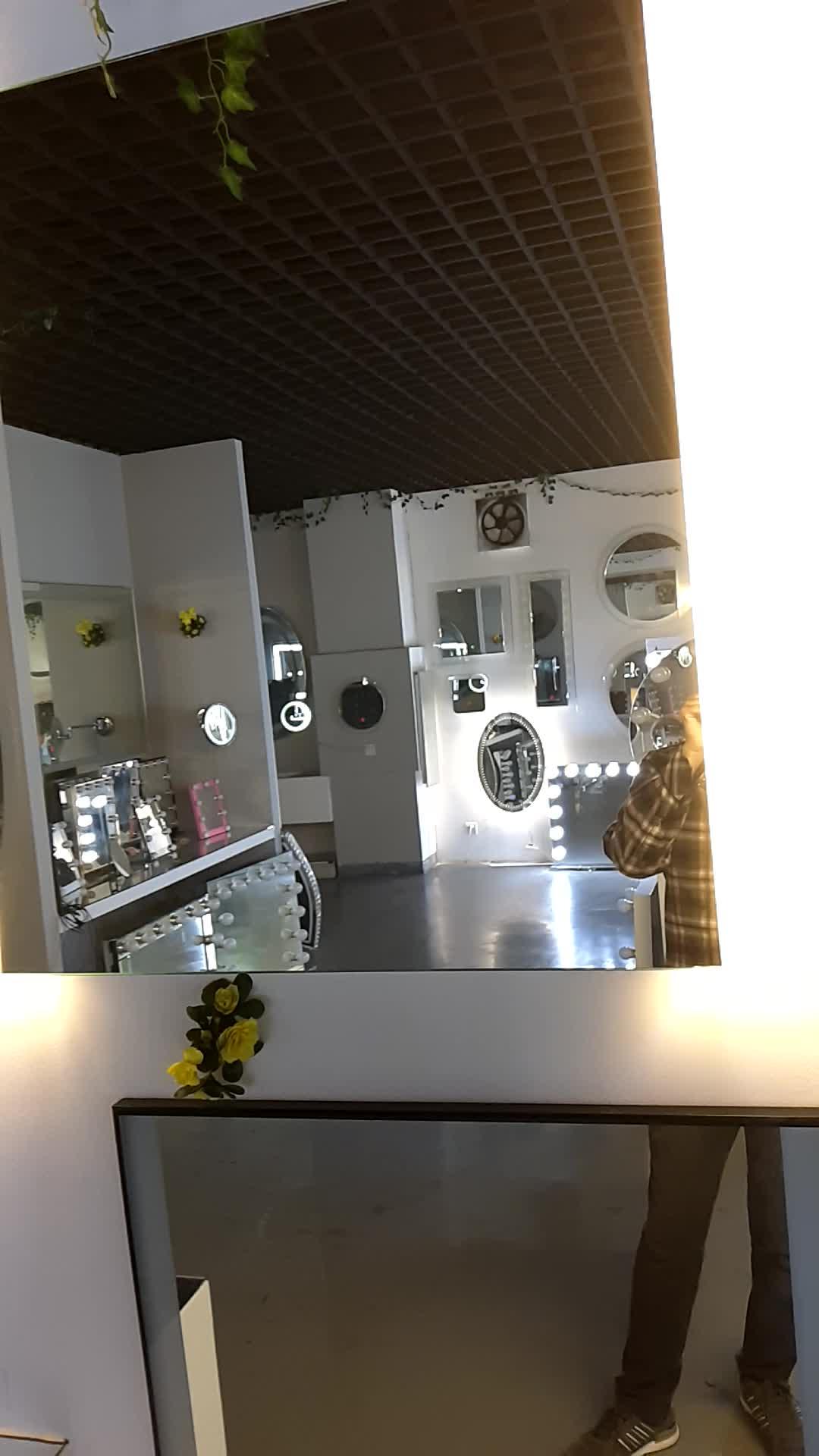 Wall Mounted Led Frameless Backlit Bathroom Mirror Led ...